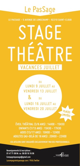Tract stages Juillet 18