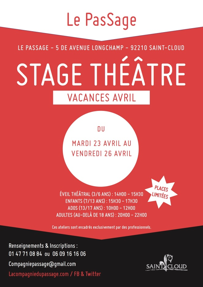 Affiche avril stage